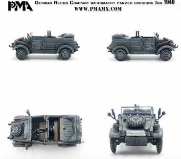 PMA P0350 - SET Sd.Kfz.2 Kettenkrad + VW Kubelwagen Type 82 , 2th Panzer Division 1940