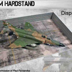 Coastal Kits CKS108-48W - DIORAMA 1/48 Display Base Vietnam Hardstand with Revetment Walls