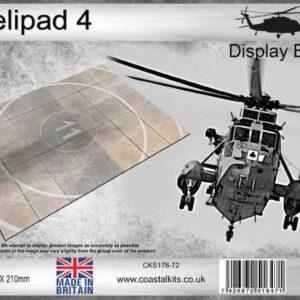 Coastal Kits CKS176-72 - DIORAMA 1/72 Display Base - Helipad 4