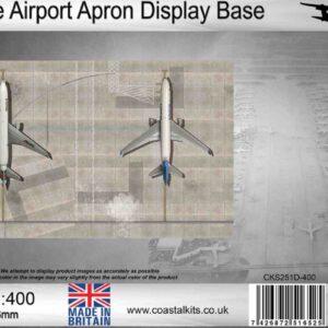 Coastal Kits CKS251D-400 - DIORAMA 1/400 Display Base - Letiště - Double Airport Apron