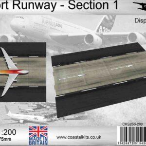 Coastal Kits CKS260-200 - DIORAMA 1/200 Display Base - Vzletová - Přistávací Dráha - Runway Section 1