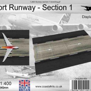 Coastal Kits CKS260-400 - DIORAMA 1/400 Display Base - Vzletová - Přistávací Dráha - Runway Section 1