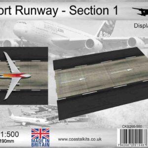 Coastal Kits CKS260-500 - DIORAMA 1/500 Display Base - Vzletová - Přistávací Dráha - Runway Section 1