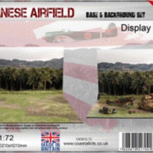 Coastal Kits CKS912-72 - DIORAMA 1/72 Display Base - Vojenské Letiště - Japanese Airfield & Background Set