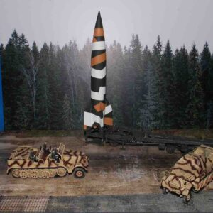 F Coastal Kits CKS213-72 - DIORAMA 1/72 Display Base V2 Rocket.Vergeltungswaffe 2 & Background