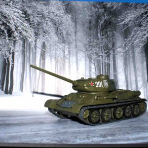 MODIMIO Collections NT041S - SET T-34 / 85 Medium Tank , '201' Armed Forces of the Soviet Union + Diorama