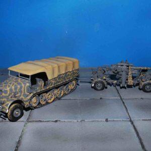 War Master / Solido S7200202 - Sd.Kfz. 9 FAMO (Schwerer Zugkraftwagen 18 t) Half Track + 88mm FlaK 36 , Wehrmacht
