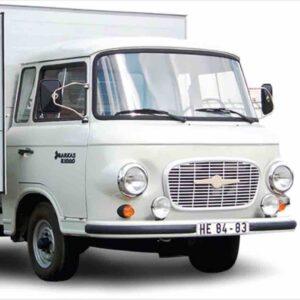 Schuco SHU 03656 - Barkas B1000 Box Van (skříňový) + Figurka