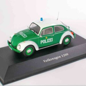 Atlas Editions POLICE Cars Collection MAG KW01 - Volkswagen Beetle 1200 , Polizei - Police , Germany 1977