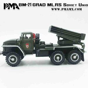 PMA P0339 - BM-21 Grad MLRS (Multiple Rocket Launcher) / URAL-375 , Soviet Army 1970s.Modely aut. Diecast models cars.Modely nákladních aut.Diecast models vehicles.Modely hasíčských,požarních vozidel.Diecast models cars.fire engine.Transport diecast models.Modely vojenské techniky. Diecast models military vehicles.Modely tanků.Diecast models tanks. Sběratelské modely.Hotové modely autSběratelské modely aut.Sběratelské modely vojenské techniky a tanků.Kovové modely aut.
