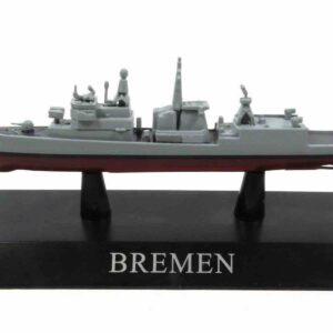 DeAgostini MAG KZ33 - F122 Bremen Frigate , Germany 1982.Modely lodí.Kovové modely.Diecast models ships.Sběratelské modely bitevních lodí.Hotové modely.Modely zaoceánských lodí.Diecast models of ocean liners.