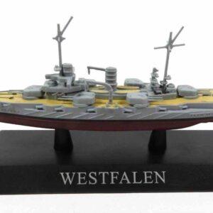 DeAgostini MAG KZ34 - SMS Westfalen Battleship , Germany 1909.Modely lodí.Kovové modely.Diecast models ships.Sběratelské modely bitevních lodí.Hotové modely.Modely zaoceánských lodí.Diecast models of ocean liners.