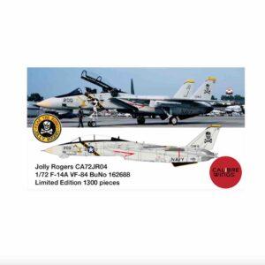 Modely letadel F-14 Tomcat.Grumman F-14 Tomcat.Calibre Wings CA72JR04 - Grumman F-14A Tomcat , '200/162688' VF-84 - Fighter Squadron 'Jolly Rogers' U.S.NAVY , CVW-8 (Carrier Air Wing Eight ).Modely letadel . Sběratelské modely . Modely tanků. Modely vojenské techniky. Hotové modely . Sběratelské modely letadel. Sběratelské modely vojenské techniky a tanků. Kovové modely. Diecast models aircraft , helicopters , military vehicles , tanks .
